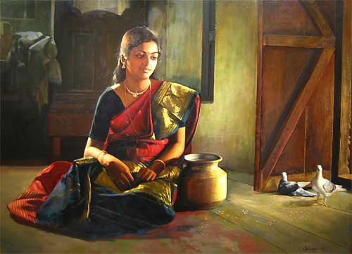 Paintings%20of%20rural%20indian%20women%20-%20Oil%20painting%20(14)
